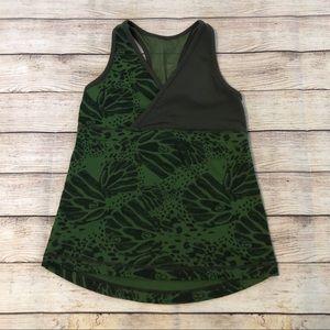 Lululemon Deep V Green Tank Top